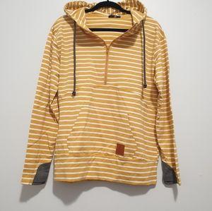 Striped half zip Sweatshirt Hoodie